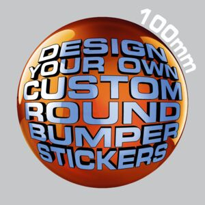 100mm Round Bumper Stickers Thumbnail