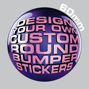 60mm Round Bumper Stickers Thumbnail