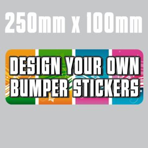 250mm x 100mm  Bumper Stickers Thumbnail