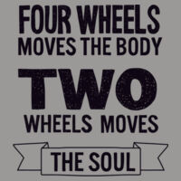 Two wheels moves the soul Design